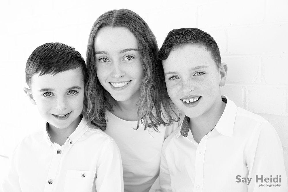 3 siblings portrait