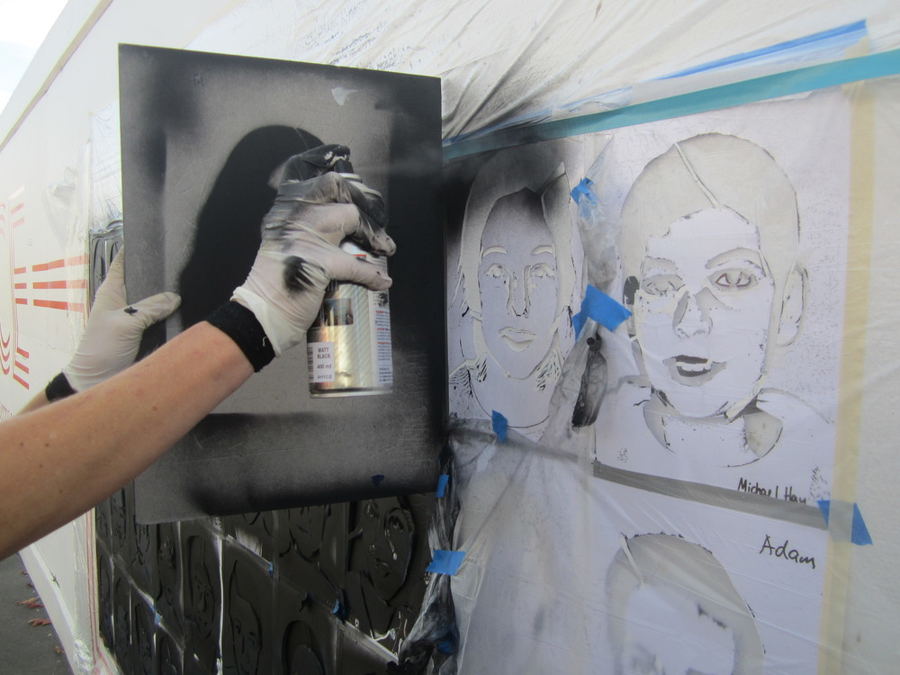 the stencil art project scape public art