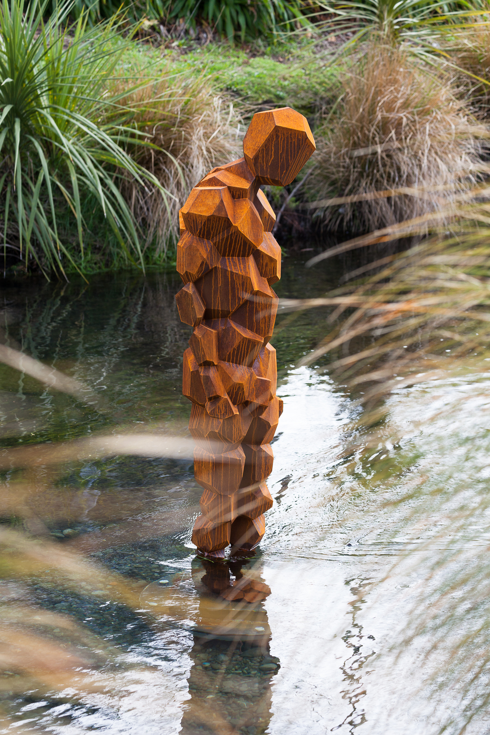 Antony Gormley,  STAY , 2015. One of two sculptures by Antony Gormley commissioned by the Christchurch City Council Public Art Advisory Group for installation on the occasion of SCAPE 8 Public Art Christchurch Biennial, Christchurch, New Zealand. Courtesy of the artist. Photo by Bridgit Anderson.