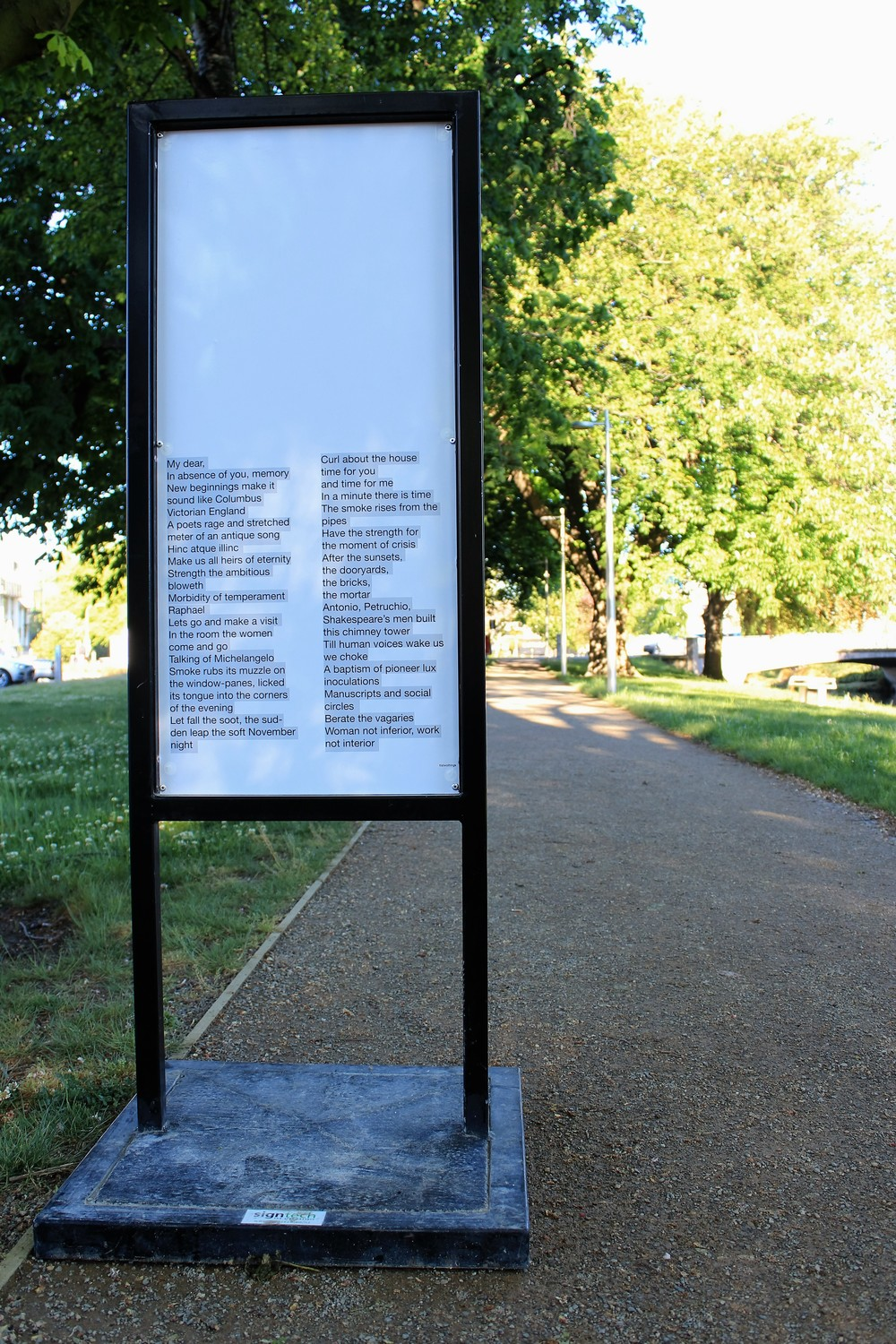 Texts of Epistolary, 2014, photo essay. © SCAPE Public Art and Zoe Crook