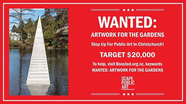 Step up for public art in Christchurch!  Can you help us give sculpture, Diminish and Ascend, by David McCracken a permanent home in the Christchurch Botanic Gardens?? We need your help! Link in bio 🙏🏻😊#stairwaytoheaven #scapeart @christchurchbotanicgardens  https://www.boosted.org.nz/projects/wanted-artwork-for-the-gardens