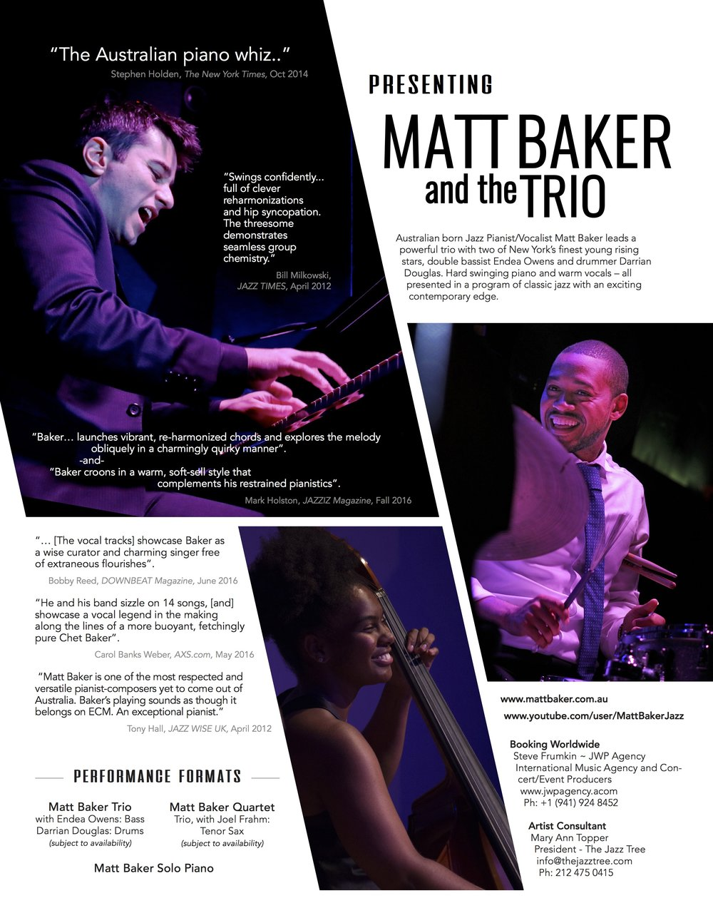 MATT BAKER AND THE TRIO - ONE SHEET