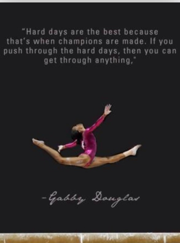 Olympic athletes inspire us to be champion's in our everyday lives.
