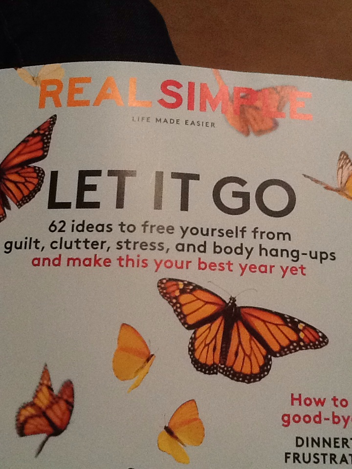 """The Best Reason to Let it Go    I just got my issue of Real Simple in the mail and realized the importance of Purging! It seems to be a common term, yet there is so much good that comes of doing this.  Purging is defined as """"ridding of or releasing unwanted items.""""  But it's not just items we need to purge. Consider this: You might be carrying with you items of your past. Whether they reside in a closet or in your head.  It's like the old skis in the closet.  We don't know they are there until we open the door.  We see them, we know they are not useful to us,  yet we still hang on to them.  Ask yourself Why?  Why do I carry this guilt? Sorrow? Hurt? When we let go, it gives us a sense of cathartic release.  We gain a sense of cleansing.  I can tell you, there is NO BETTER FEELING!  This holiday I want you to begin to think how you are going to purge.  Whether it's your mind, body, spirit or closet; Find that something.    Inspiration: Real Simple Magazine"""