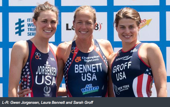 "TRIATHLON WARNING:  The feeling of accomplishment, body strength, positive energy and anti aging effects can be addictive!    While you may not be ready to compete with the  2012 U.S. Olympic Triathlon team of Laura Bennett, Sarah Groff and Gwen Jorgensen shown above, you can certainly TRY a TRI!   Talk about FREEDOM…Triathlons challenge all aspects of YOU combining strength, endurance and athletic ability for all ages, abilities and areas of specialty showing that weakness in one area doesn't discount strength in another.  This gives you a new found freedom to explore a wide range of training options - a major factor in the increasing popularity of the sport across the nation.  In fact, according to  USA Triathlon , "" More than 1 million people stepped up to a triathlon starting line last year—37 percent of them women.""   Women's Health Magazine , advocates the swim-bike-run combo to combat workout boredom and as a source of exercise and training that practically guarantees weight loss.  Also, the sprint distance (half-mile swim, 12-mile bike, and 3.1-mile run) opens opportunity for women of all ages, fitness levels and ability - you just need a little determination and you will cross the line! Promise.   Visit  http://www.trifind.com/gs_sprint/SprintTriathlons.html  for more information and a calendar of events in your area.    Also a great article by  Women's Health Magazine, You Can Be a Triathlete    So this summer, find new freedom in your fitness and give TRI-S a TRY!"