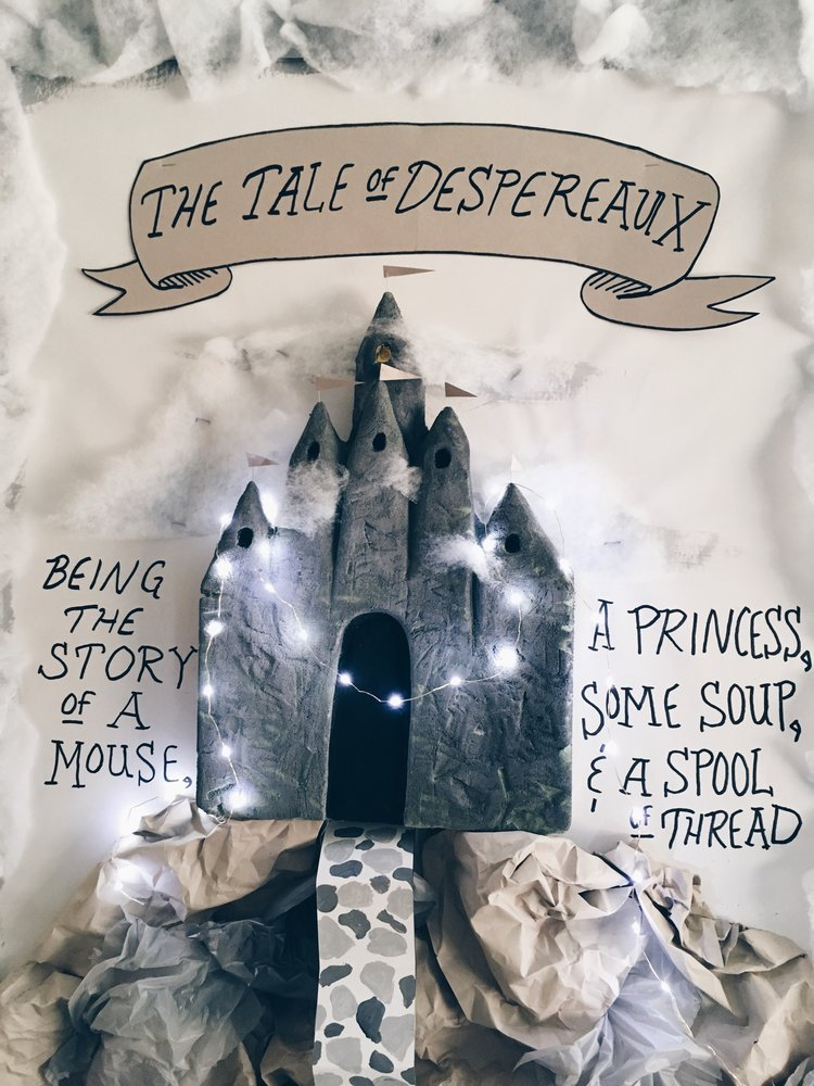 """""""The Tale of Despereaux"""" book display at DMS"""