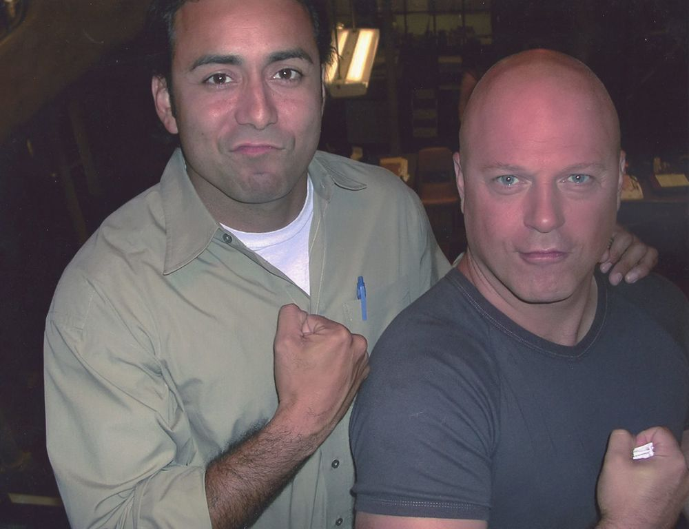 On Set with Michael Chiklis.