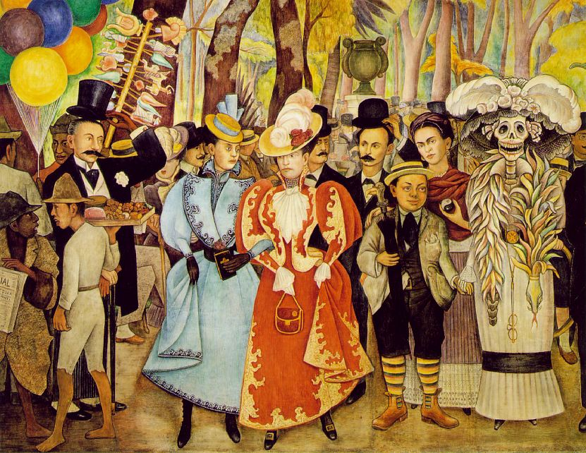 Dream of a Sunday     Afternoon in Alameda Park   (detail).     1947-1948   Museo Mural   Diego Rivera, Mexico City