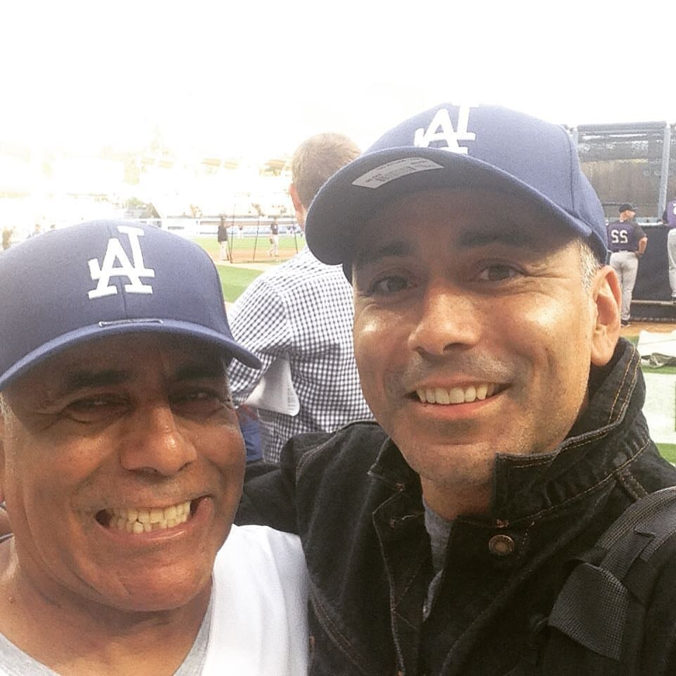With my Father, Dodger Stadium. Sept. 2015.