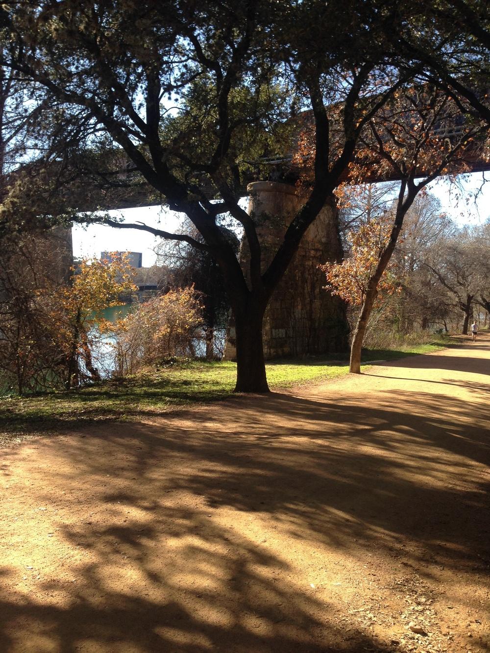 Austin trail along Lady Bird Lake.