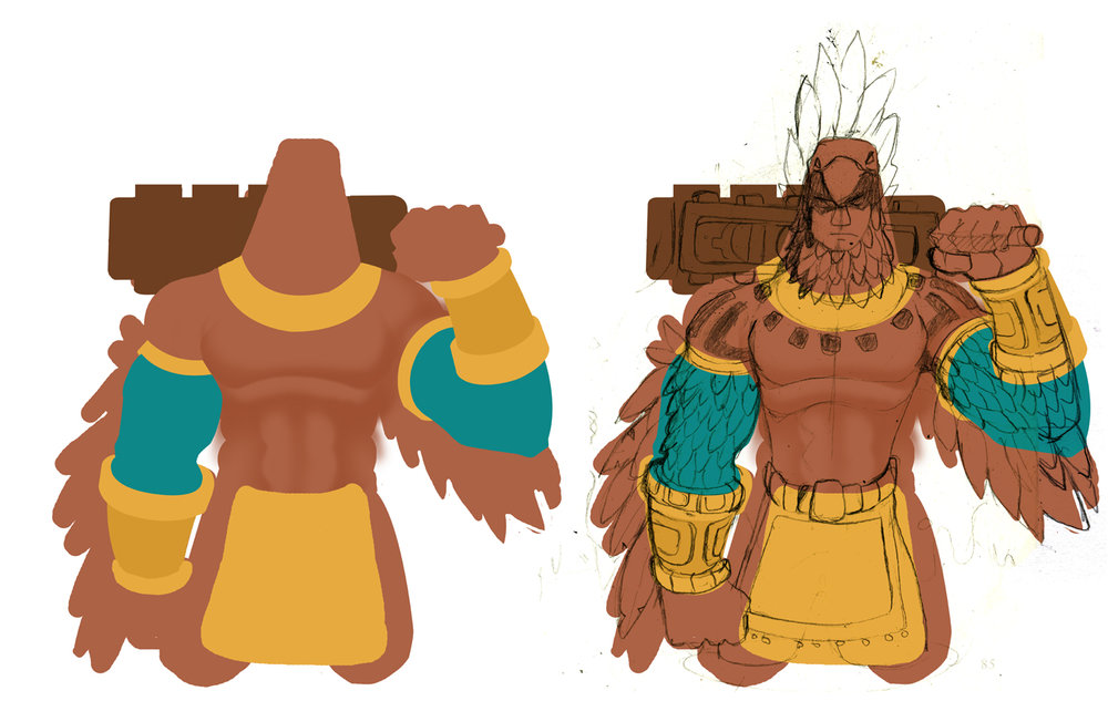 Bravo. FIrst colored renderings of our hero. Designs by Courtnee Blackmon.
