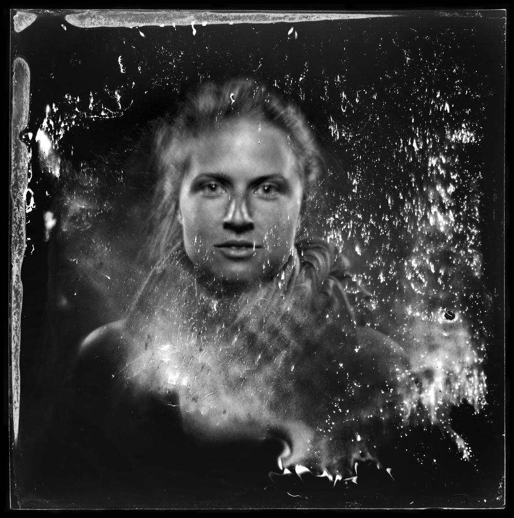 """Ayden LaRoux, artist - 7"""" x 7"""" ambrotype"""