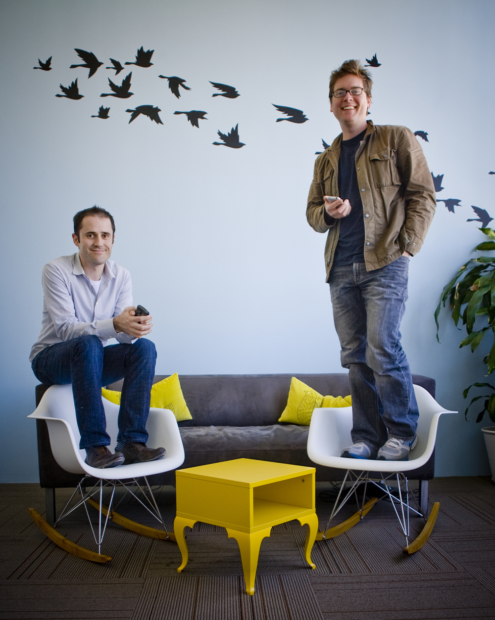 Evan Williams & Biz Stone - Twitter co-founders