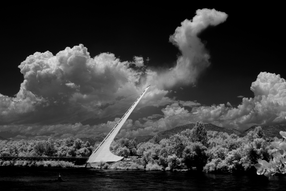 Sun Dial Bridge (inferred capture) - Redding, CA
