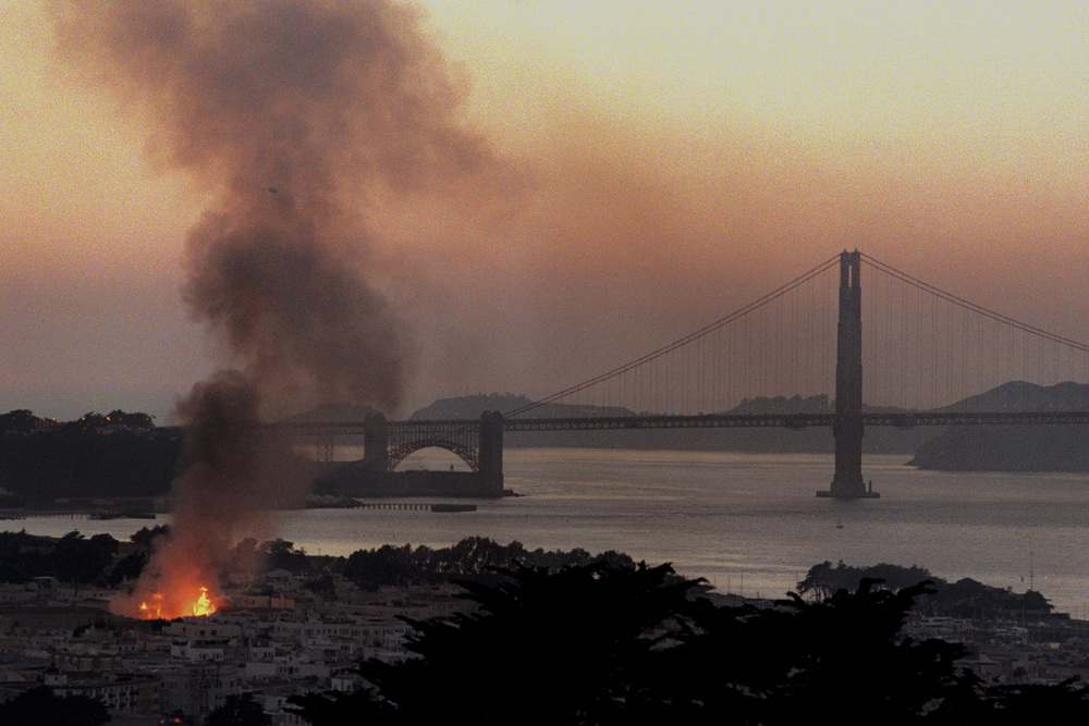 1989  Loma   Prieta  earthquake , Marina District - San Francisco, CA
