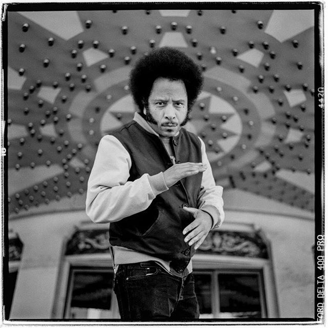 "LIFE SQUARED - ""boots riley"" © 2018 Peter DaSilva.  #onassingment #bootsriley #filemaker #sorrytobotheryou #oakland #grandlaketheatre #120 #ilford #delta400pro #bw #film #fullframe  #rolleiflex #3.5e3 #filmisnotdead #filmlover #6x6 #analog #nophotoshop #filmphotographer #pdsphoto #peterdasilva #analogueposse"