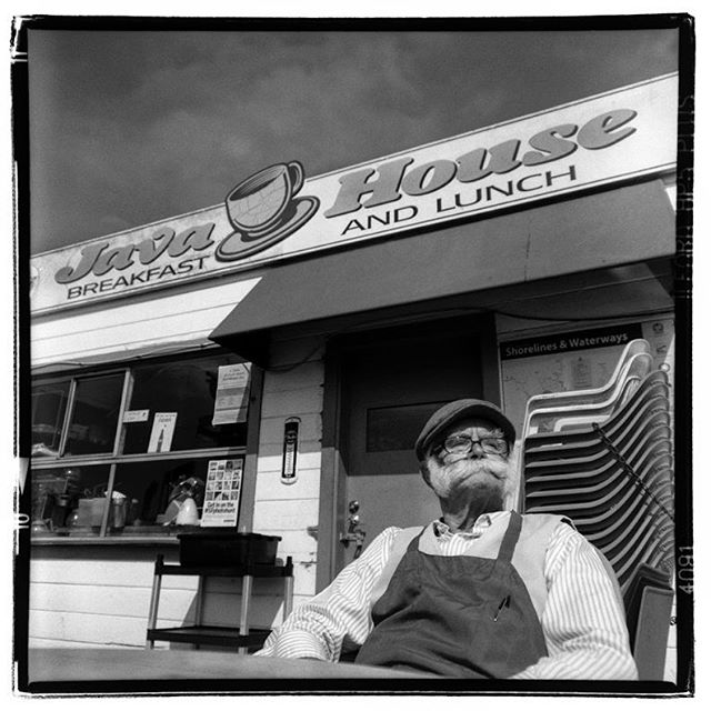 "LIFE SQUARED - ""Philip Papadopoulos - Java House"" © 2018 Peter DaSilva. #javahousesf #sanfranciscowaterfront #classic #dive #beard #hat #oldsf #film #fullframe  #rolleiflex #3_5e3 #filmisnotdead #filmlover #6x6 #analog #nophotoshop #filmphotographer #pdsphoto #peterdasilva #analogueposse"