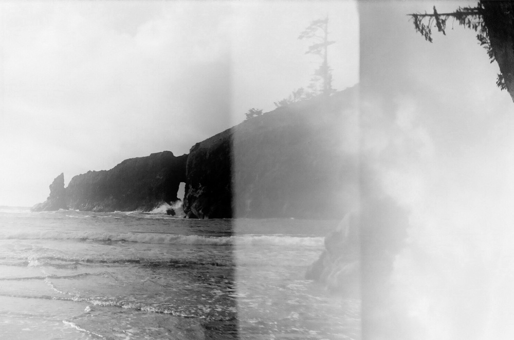 Accidental Double Exposure - Second Beach, La Push, WA