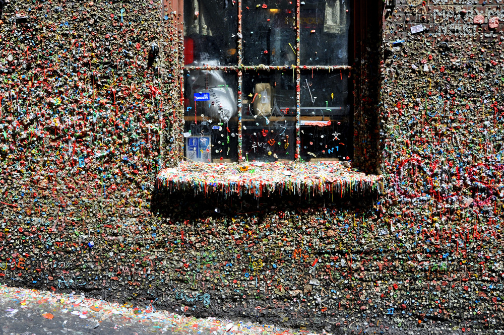 The Gum Wall next to the entrance to the Market Theatre