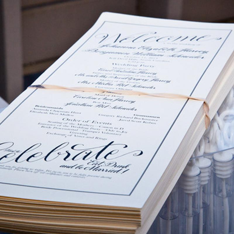 Johanna & Ben's Wedding Program