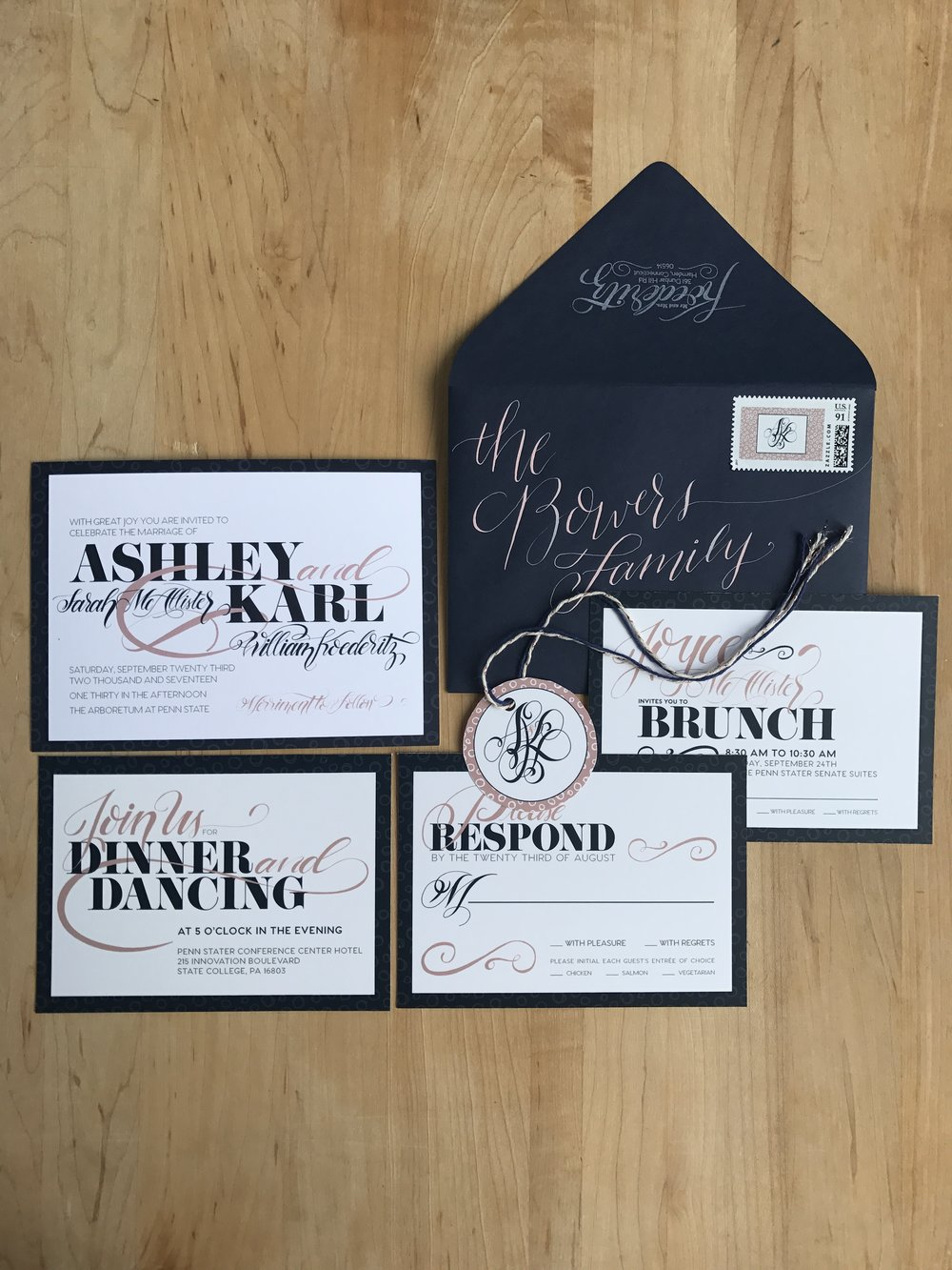 Invitations Wink Letters Design