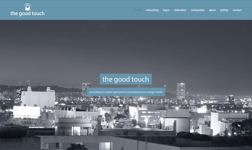 web development for the good touch business. graphic design, branding, logo design, photo manipulation