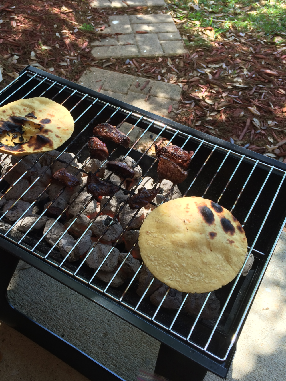 This little beach-side charcoal grill came in handy for grilling on our apartment patio!