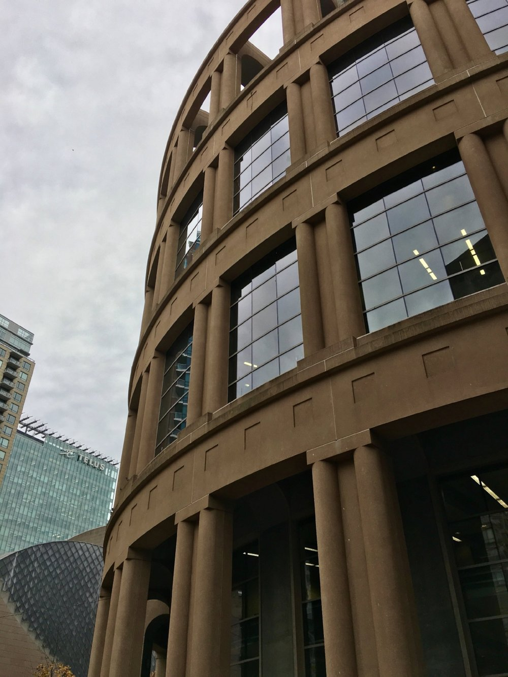 This was the branch of the Vancouver Public Library that I spent a couple of hours in on Friday while Kurt was at his sessions. It was a beautiful building, both inside and out!