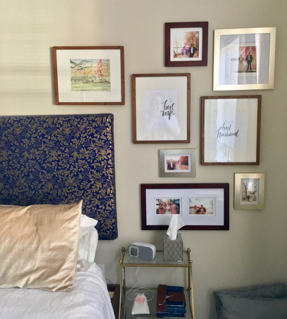 I purchased    this frame    from Pottery Barn to match some of the other frames we have in our bedroom!