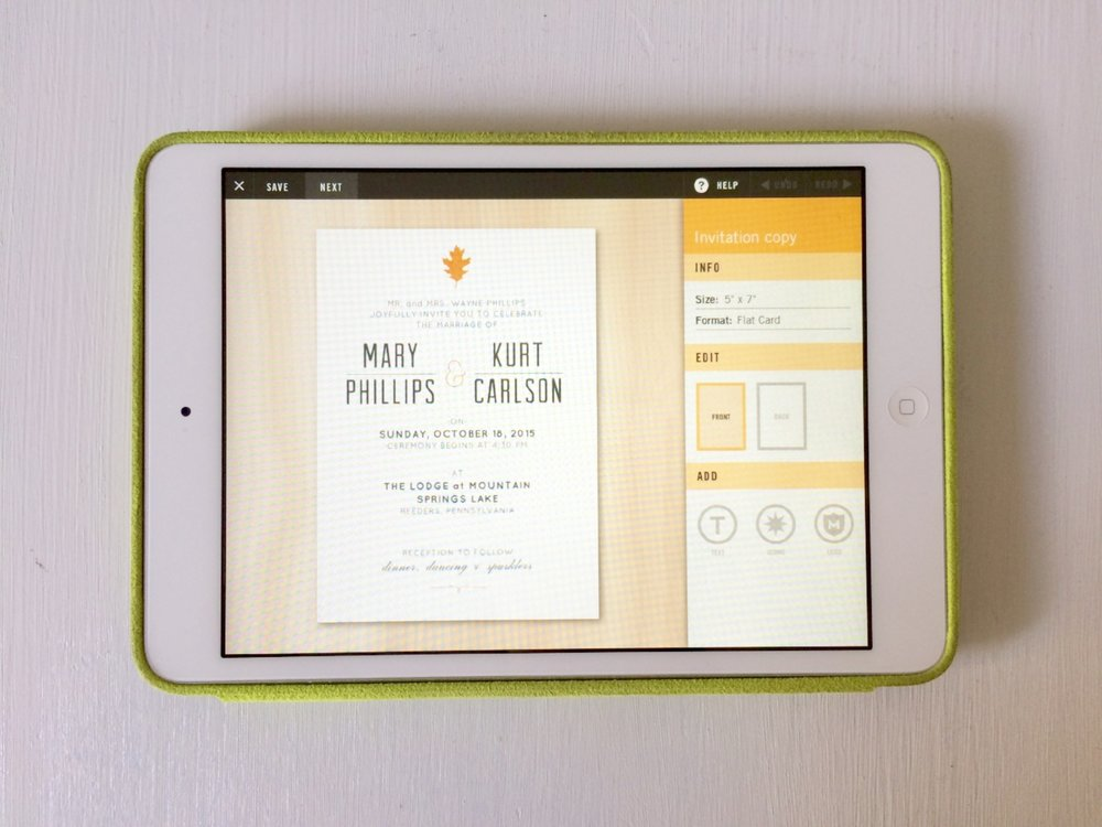 Pre-designed templates made personalizing our invitations quick and easy!
