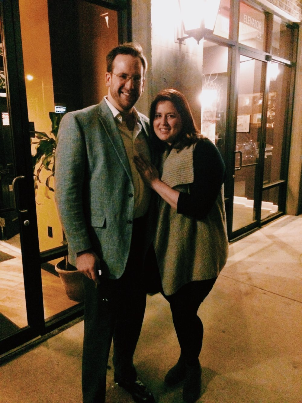 A little blurry, but a date night photo nonetheless!
