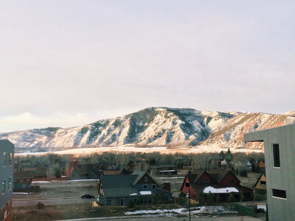 The view from our room. We stayed at the Element Aspen-Basalt and loved our experience!