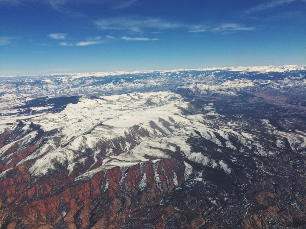The view as we flew back to Florida. We can't wait for a chance to go back!