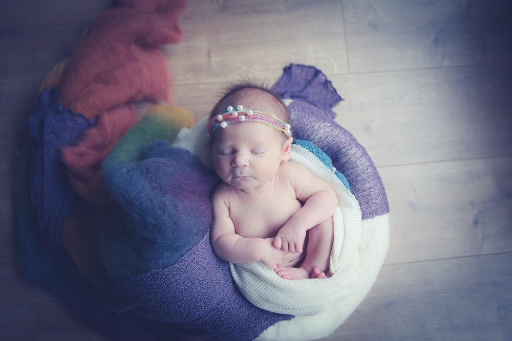 Rainbow-baby-Newborn-photo