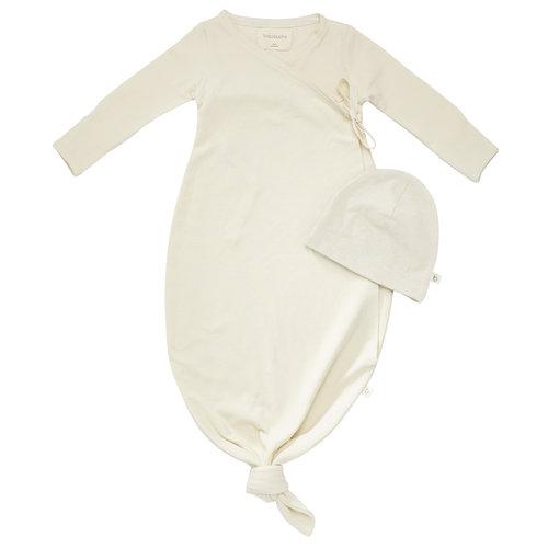 48c774aab Organic Baby Kimono Gown + Matching Beanie   Natural. BBF17-4_NAT HAT  COMBO.jpg