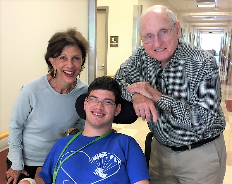 Coach Vince Dooley, his wife, Barbara, and their grandson, Matthew