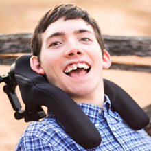 "Jackson Puckett  ""   This will be my first race and I want to support Champions Place and the Titans who offer me great opportunities for wheelchair sports and activities!"""