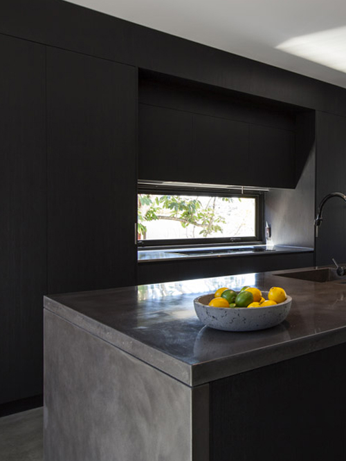 Enoggera Terrace Redidence - Polished Concrete Benchtop and Kitchen Island (Click on photo to see more photos)