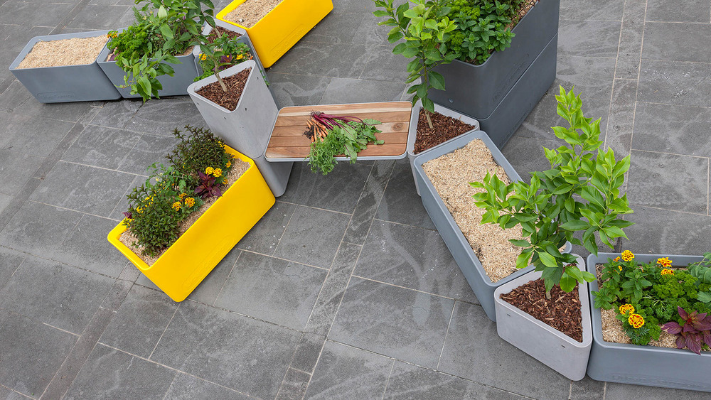 Urban Commons Collaborative Project - Concrete Planters, Concrete Pots (Click on photo to see more photos)