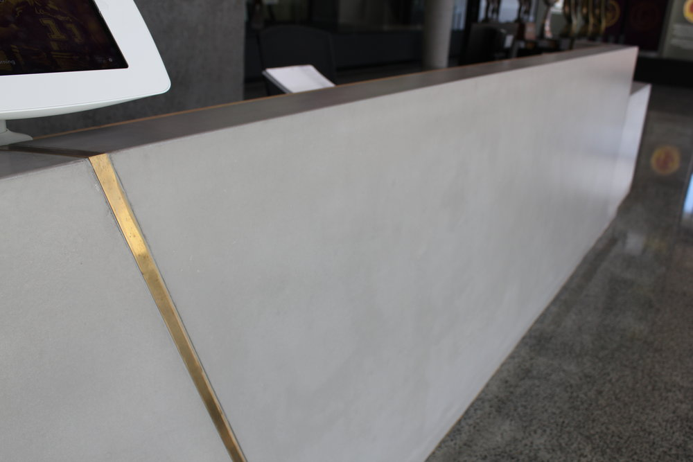 Concrete Reception Counter