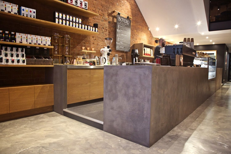 Botero Cafe    - Concrete Counter, Timber & Concrete Display Cabinet, Concrete Vanity    (Click on photo to see more photos)
