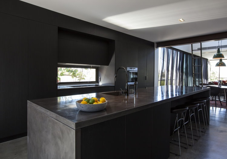Enoggera Terrace Residence    - Concrete Kitchen Benchtop, Concrete Kitchen Island    (Click on photo to see more photos)