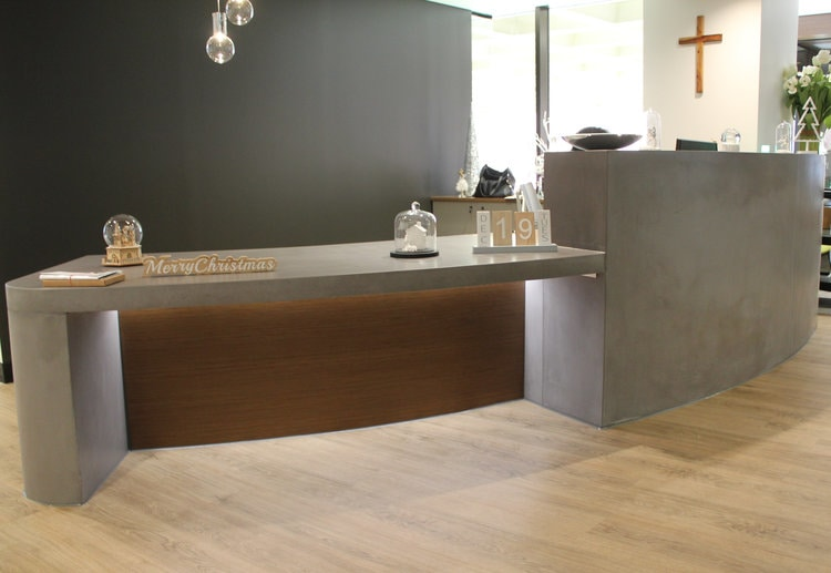 Catholic Church    - Concrete Reception Desk