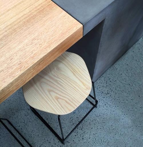 Timber & Concrete Counter
