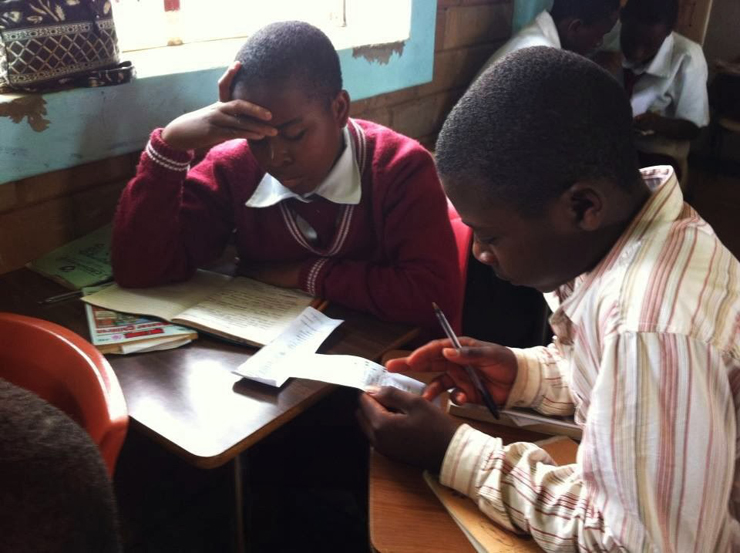 Eliphaz Maxwell learns poetry at the Children of the Nations secondary school in Lilongwe, Malawi.