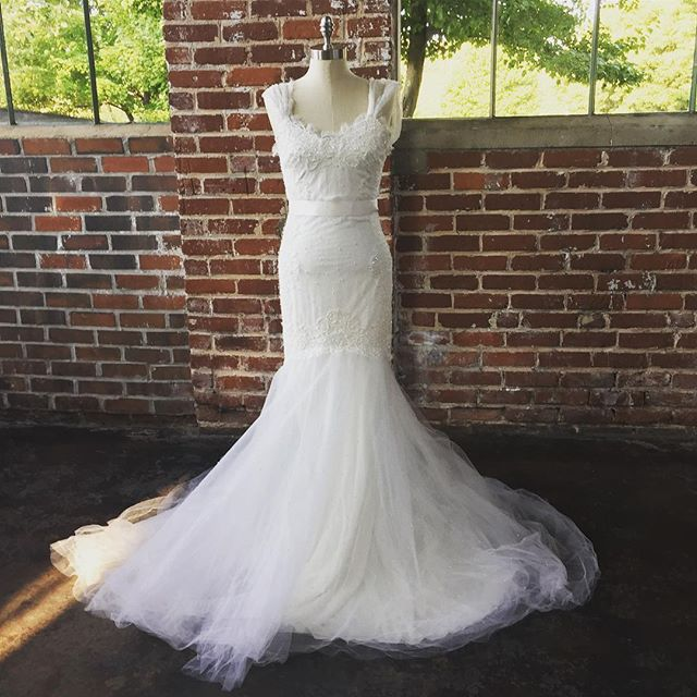 She's ready to walk down the aisle with you. Find this Size 4 authentic #Marchesa and others for sale in our Tradesy store. Link in bio.