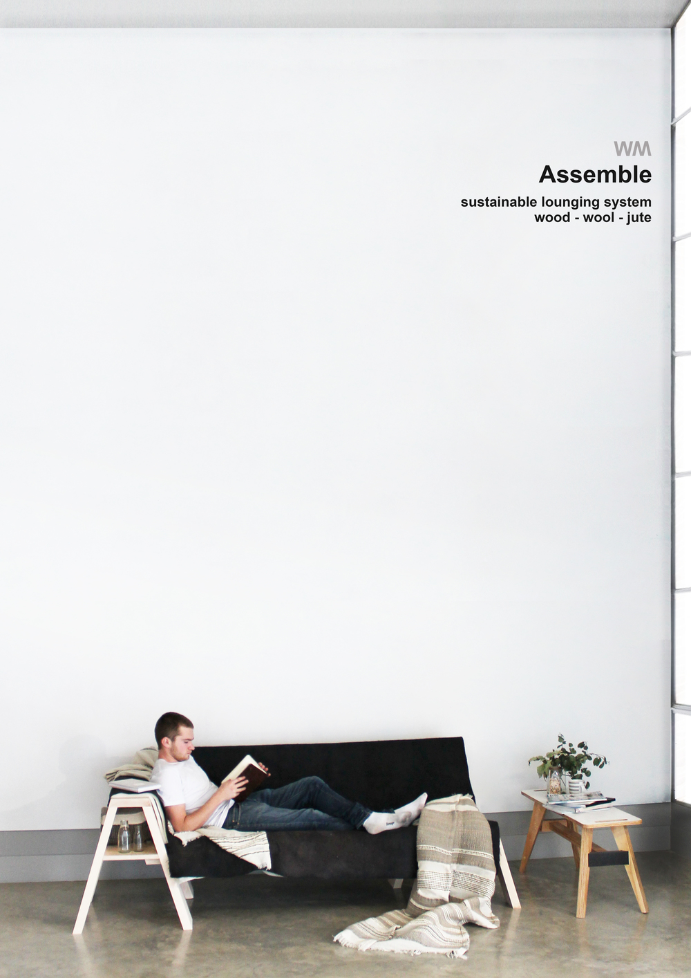 WM | Williams McFarland Collaboration | Assemble|  | Throws,Styling & photographyby me | ModelLlyr Williams | Tableby Barnaby Ward |