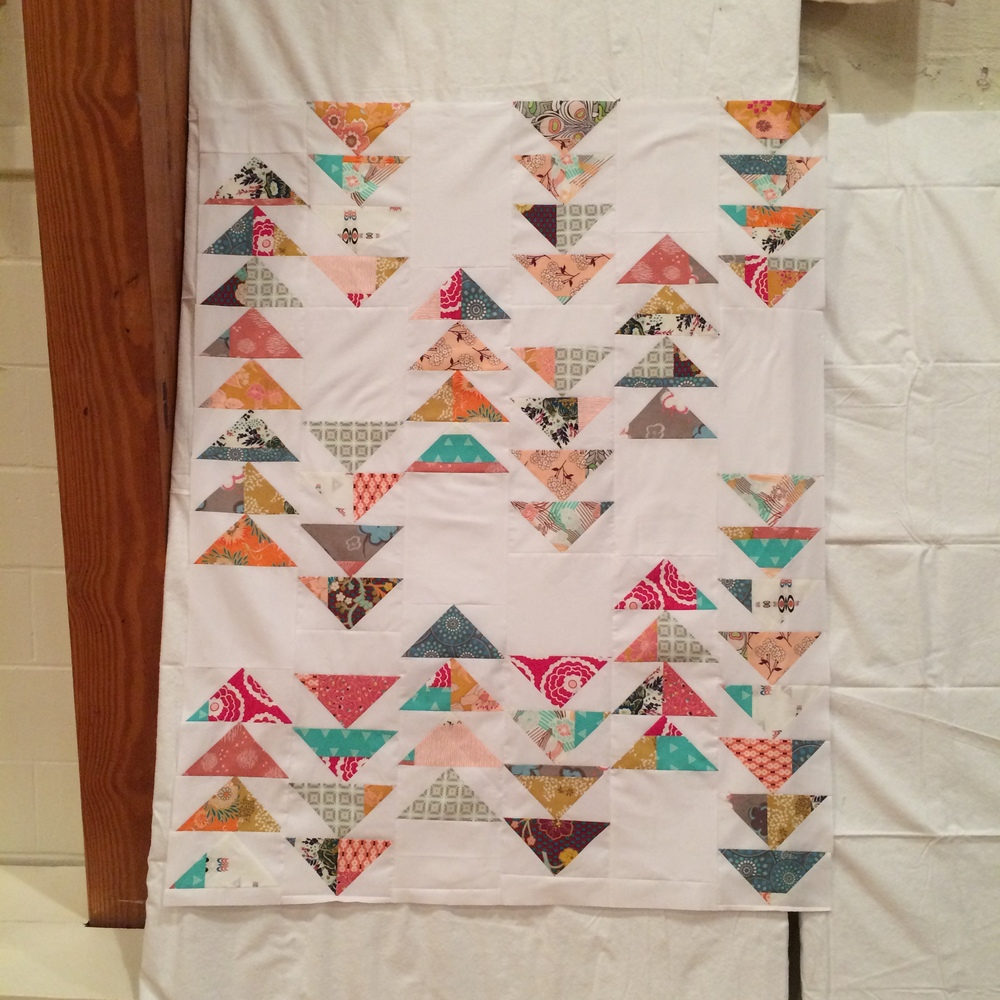 Pat Bravo Project Linus quilt scrappy geese