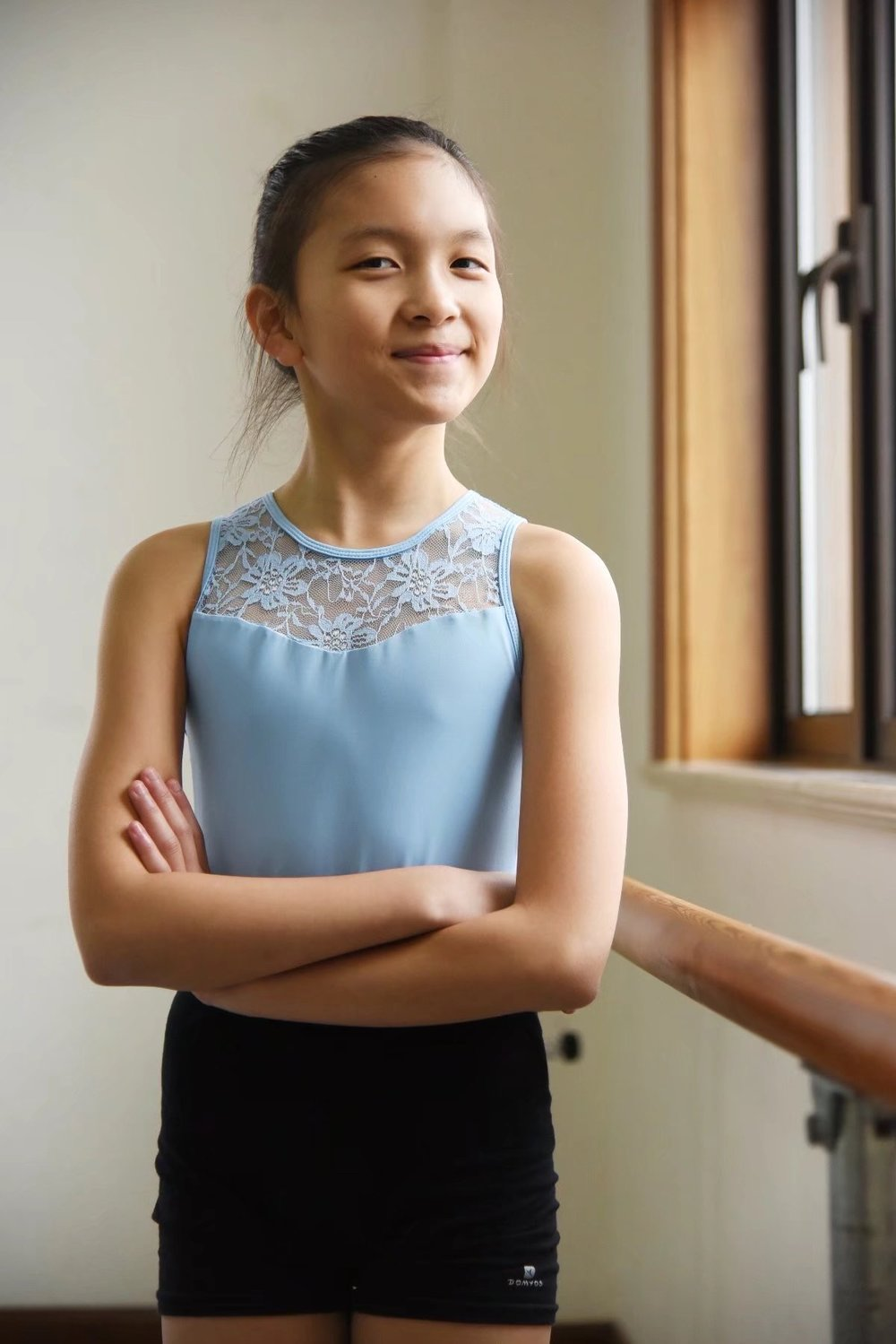 Samantha   Samantha started dancing when she was 4 years old. After she joined DWS, she is more passionate about dance than ever - it has become a part of who she is. She can't wait to try out different dance styles. Apart from dance, she enjoys other performing arts.