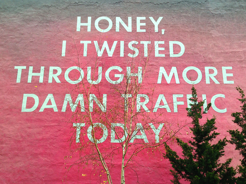 High Line Art Mural by Ed Ruscha – New York